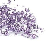 6,5 m Perlengirlanden Flieder - Perlengirlande Dekoschnur Perlen