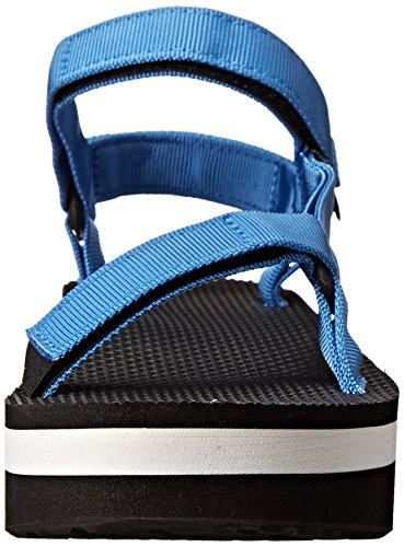 Teva Damen Flatform Universal W Wedge-Sandalen Blau