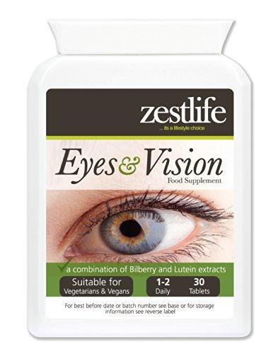 Zestlife Ojos y Visión Suplemento 30 comprimidos | Una combinación de arándano y...