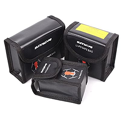 Fascinated Drone Battery Case Protective Storage Bag LiPo Safe Box Explosion-proof for DJI MAVIC AIR