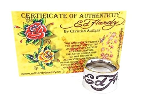 Ed Hardy by Christian Audigier - Bague homme metal argente - Taille 63