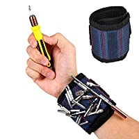 Forfar Wristband Magnetic Wrist band Wrist Screw Kit Set 13.8' Support Band Tool Belt Bracelet Safety for Outdoor Sports