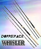 2 Stk. DAM WHISLER Feeder, 3,90m, bis 180g, 3+3-tlg. (Doppelpack) - Feederrute + gratis Feederkörbchen