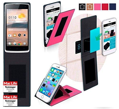 reboon Hülle für Oppo R2001 YoYo Tasche Cover Case Bumper | Pink | Testsieger