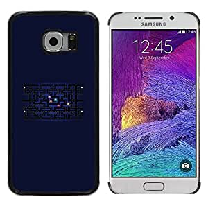 PC/Aluminum Hartschale Schutzhülle Tasche Hülle für Samsung Galaxy S6 EDGE SM-G925 Computer Game Retro Universe Labyrinth Maze / JUSTGO PHONE PROTECTOR