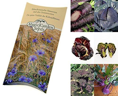 saatgut set violettes gem se 7 besondere alte gem sesorten die durch ihre lila violette. Black Bedroom Furniture Sets. Home Design Ideas
