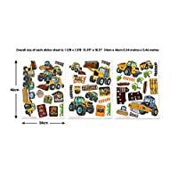 Walltastic My 1st JCB Muddy Friends Wall Stickers, Vinyl, Multi-Colour, 37.5 x 4 x 18 cm