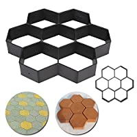 Generic Black Hexagon Driveway Paving Pavement Stone Mold