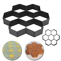 Generic Black Hexagon Driveway Paving Pavement Stone Mold