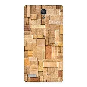 Impressive Wood Blocks Pattern Back Case Cover for Redmi Note Prime