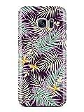 COVER Palmen Blätter floral tropic lila gelb grün Design Handy Hülle Case 3D-Druck Top-Qualität kratzfest Samsung Galaxy S7 Edge