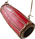 FAIR TRADE NEPALESE MANDAL MADAL TABLA HAND DRUM PERCUSSION (Red)