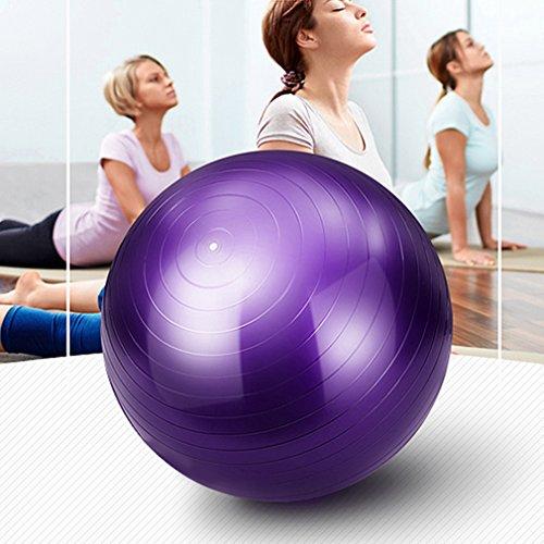 Blackpoolal Anti-Burst Gymnastikball Yoga Ball 85 cm /300 kg Bürostuhl Sitzball Fitnessball Pilates Yoga-Kugel, Pezziball als Fitness Kleingeräte und Balance Stuhl im Gym-Home-Büro + Pumpe (Lila, 85CM)