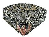 colourliving Schmuckkästchen Schmuckschatulle Aufbewahrungsbox mit Deckel Drachendose Drachen Figur Schmuckkästchen