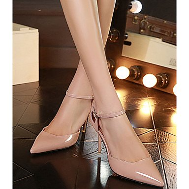 Moda Donna Sandali Sexy donna caduta tacchi Comfort PU Casual Stiletto Heel fibbia nero / rosa / Bianco Altri White