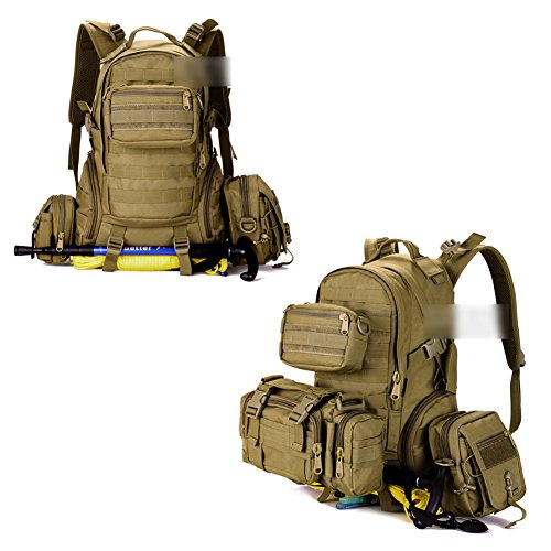 YAAGLE 35 L wasserdicht Rucksack Reisetasche Gepäck militärisch outdoor Schultertasche Schüler Schultasche Sporttasche Tarnung 1