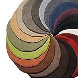 Möbelbär Kissen-Hülle Dekokissen Zier-Kissen Kissenbezug Textil-Stoff Sawanna Struktur Leinen-Optik Polster-Stoff Möbel-Bezugsstoff rund 60 cm Grey