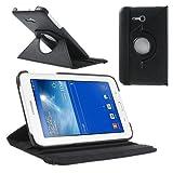 jbTec® Tablet-Hülle/Tasche zu Samsung Galaxy Tab 3 Lite 7.0 / SM-T111 / SM-T116 WiFi/SM-T110 / SM-T113-360° Schwarz - Case Schutzhülle Cover