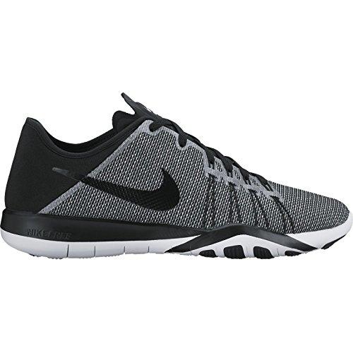 Nike Wmns Free Tr 6 Prt, Scarpe Sportive Indoor Donna Multicolore (White/white/black)