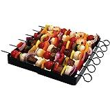 Brinkmann Pics à brochettes et support pour grillade, barbecue et cuisson au four Anti-adhésif