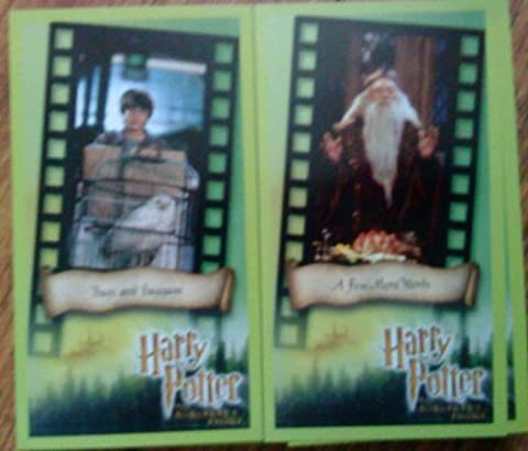 harry potter and the sorcerers stone widescrren trading cards - complete set mint