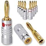 10 x Yonix High End Bananenstecker   vergoldet   BSY-345