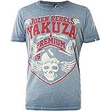 Yakuza Premium T-Shirt Vintage-201 Blau, M