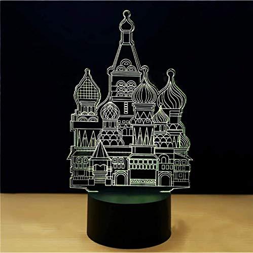 Licht Geschenke 3D Islamische Architektur Modellierung Led 7 Farben Ändern Tischlampe Gradienten Atmosphäre Nachtlicht ()