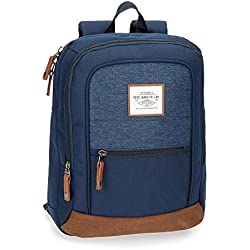 Pepe Jeans Quilted Mochila Tipo Casual, 36 cm, 11.66 litros, Azul