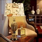 GZ American Pastoral Schlafzimmer Nachttischlampe Kreative Ananas Pastoralen Mode Wohnzimmer Lampe