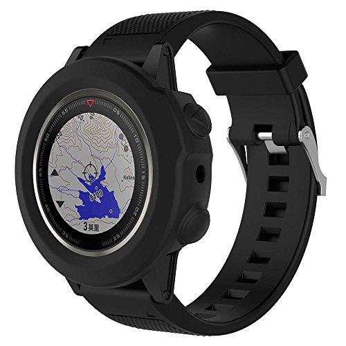 Cyond für Garmin Fenix 5X GPS-Uhr Smart Watch - Gehäuse, Silikonmaterial Drop/Collision/Scratch Resistance - Schutzhülle, Fitnessuhr/Sportuhr - Schutzhülle (Schwarz)
