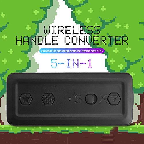 Juman634 Switch Wireless Controller Konverter GC Wii NES SNES Bluetooth-Griffadapter Tragbarer 5-in-1-Konverter GBros Wireless Adapter