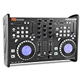 Power Dynamics PDX125 Dual-DJ-CD-Player-Controller mit integr. 2 Kanal Mixer (USB/SD, MP3, CD-Player, 2 Jogwheels mit Display, Mikrofonsektion)