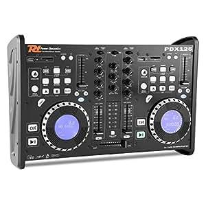 Power Dynamics PDX125 table de mixage controleur 2 canaux lecteur CD Dual-DJ USB SD MP3