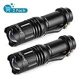 Albrillo 2er Pack mini LED Taschenlampe 120LM fokussierbar Taschenleuchte mit 3...