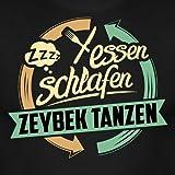 Essen Schlafen Zeybek Tanzen RAHMENLOS Hobby Lustig Geschenk Männer T-Shirt von Spreadshirt®, L, Schwarz -