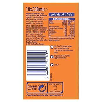 Fanta Orange Canettes 10 x 33 cl - Frigo Pack