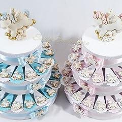 Idea Regalo - Sindy Bomboniere Torta Portaconfetti Magnete Unicorno (Torta da 35 fette, Bambino)