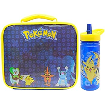 Personalised Pikachu Style Insulated Packed Lunch//Sandwich Bag *Pink Blue Red*