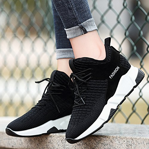 GUNAINDMX Black Shoes Sports Spring New Shoes All-Match Leisure Air Running Shoes
