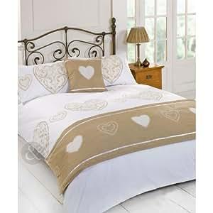 just contempo bettw sche set bedruckt mit klassischen herzen einzel bettbezug m dchen. Black Bedroom Furniture Sets. Home Design Ideas