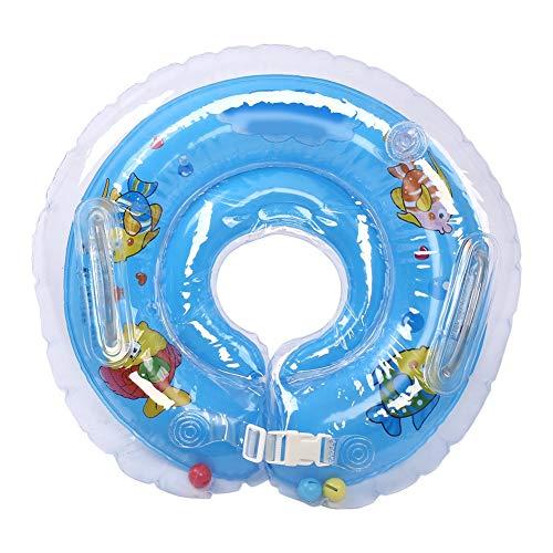 Fdit Schwimm Hals Schwimmring für niedliches Baby aufblasbarer Bad Schutz Schutzkreis für 1 18 Monate(Blau)
