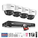 ANNKE 8CH 1080P Poe NVR Überwachungssystem, Netzwerk Video Recorder + 4*1080P IP Überwachungsskameras mit 1TB Überwachung Festplatte, Poe Plug und Play, Bewegungserkennung mit E-Mail Alarm
