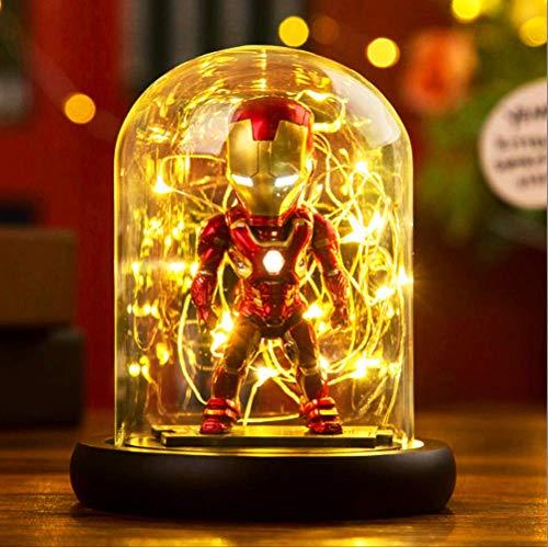Diy Creative Avengers Veilleuse Captain America Spiderman Iron Man Enfants Chambre Chambre Lampe Lampe Éclairage Décoratif UsbIron Man (S)