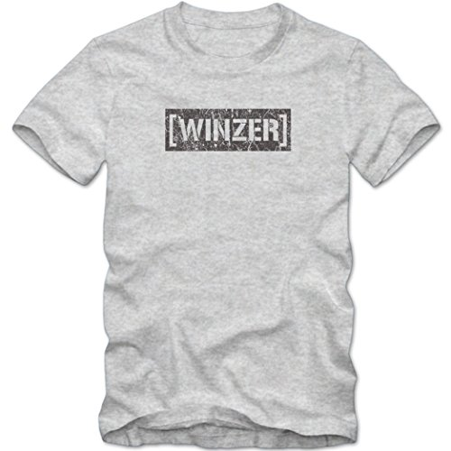 Bester Winzer #1 T-Shirt | Berufe | Follow your dreams | Traumberuf | Herren | Shirt © Shirt Happenz Graumeliert (Grey Melange L190)