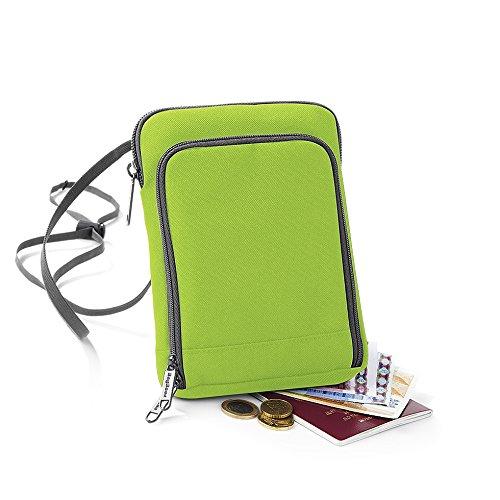 BagBase Travel-Wallet = Reisetasche Brustbeutel Wertsachenbeutel für Smartphone Player Kamera (Farbe lime-green) -