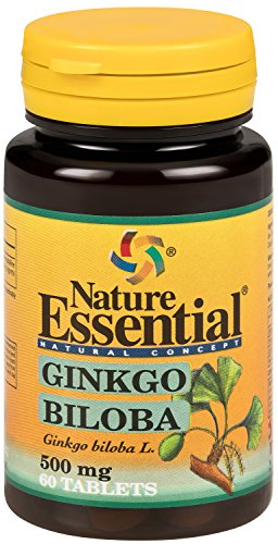 Ginkgo Biloba - 500mg Ginkgo Extrakt + Ginkgo Pulver - Das günstigste hochdosierte Premium Ginkgo auf dem Markt (60 Tabletten) (Ginkgo Biloba-60 Kapseln)