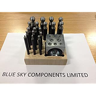 Doming / Dapping Set 18 Piece Hardened Steel Jewellers Tool 2.3 - 16.2mm