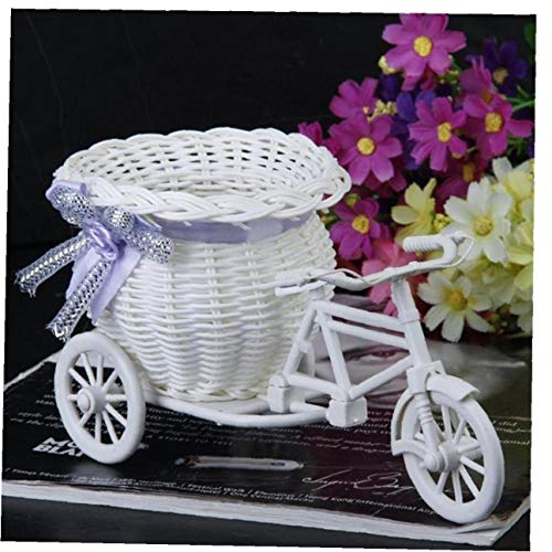 Planta de Flor Blanco Cesta de contenedores Inicio Jarr/ón Bicicletas Boda Cesta del Triciclo Cesta envase Inicio Weddding Decoraci/ón