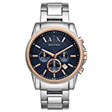 Armani Exchange Herren Chronograph Quarz Uhr mit Edelstahl Armband AX2516